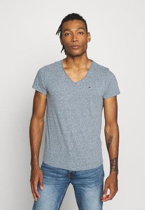 VNECK TEE - Camiseta básica - audacious blue