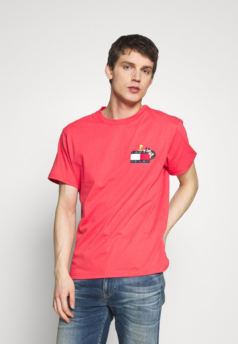Tommy Jeans - LOONEY TUNES TEE  - T-shirt print - sunset rose
