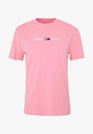STRAIGHT LOGO TEE - Print T-shirt - rosey pink