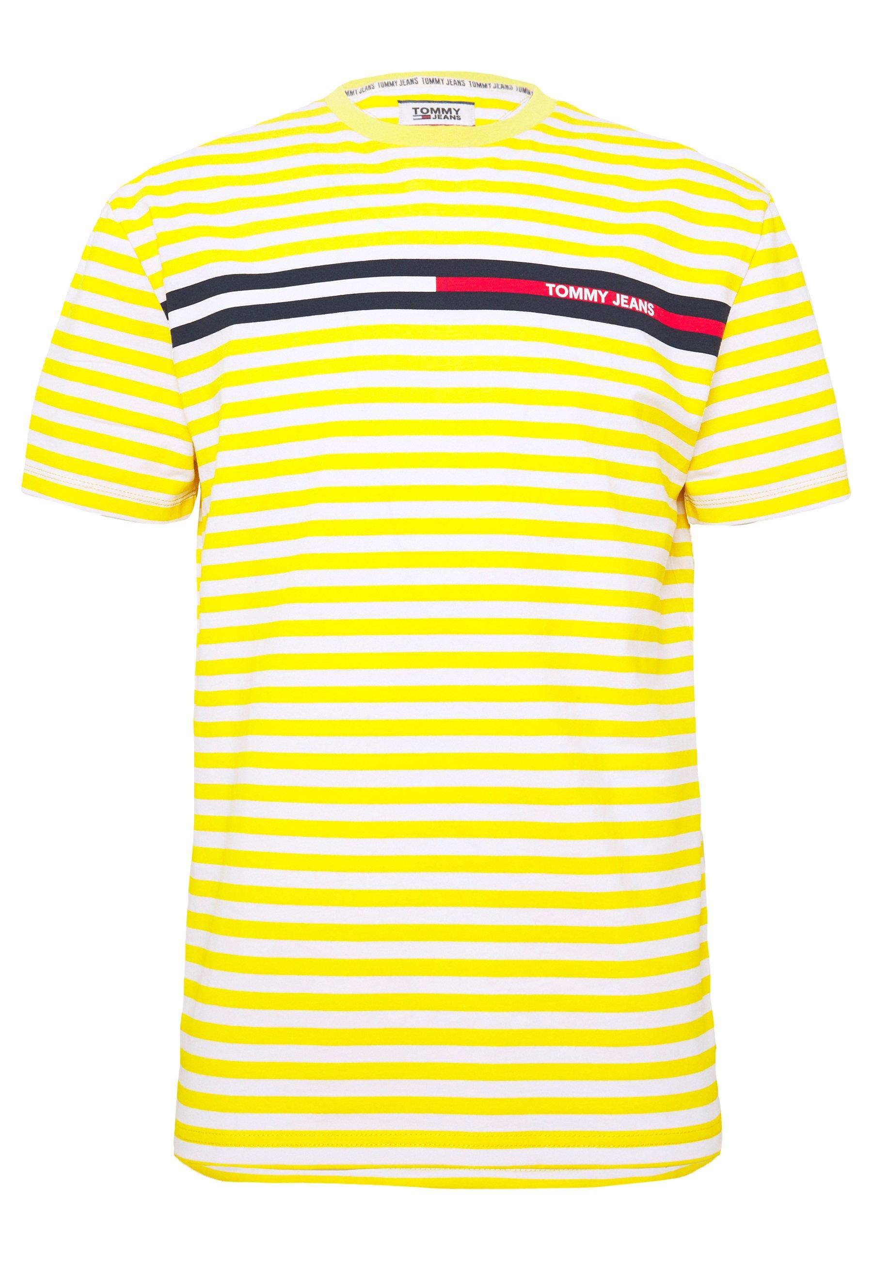 BRANDED STRIPE TEE T shirts print yellowwhite