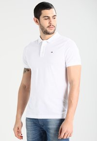 Tommy Jeans - ORIGINAL FINE SLIM FIT - Polo - classic white - 0