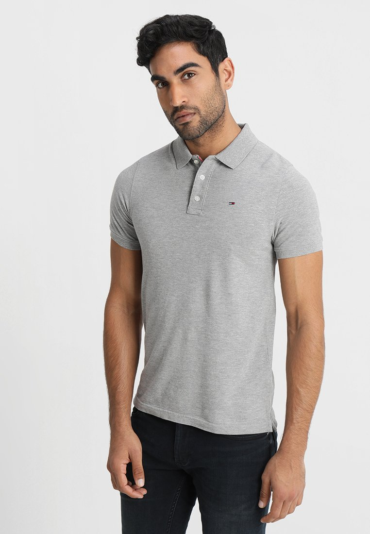 Tommy Jeans - ORIGINAL FINE SLIM FIT - Piké - light grey