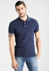 Tommy Jeans - ORIGINAL FINE SLIM FIT - Poloskjorter - black iris - 0