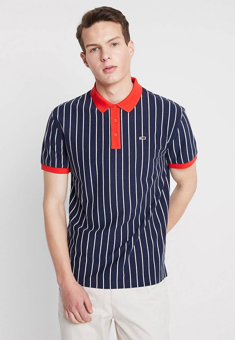 Tommy Jeans - RETRO STRIPE - Poloshirt - blue