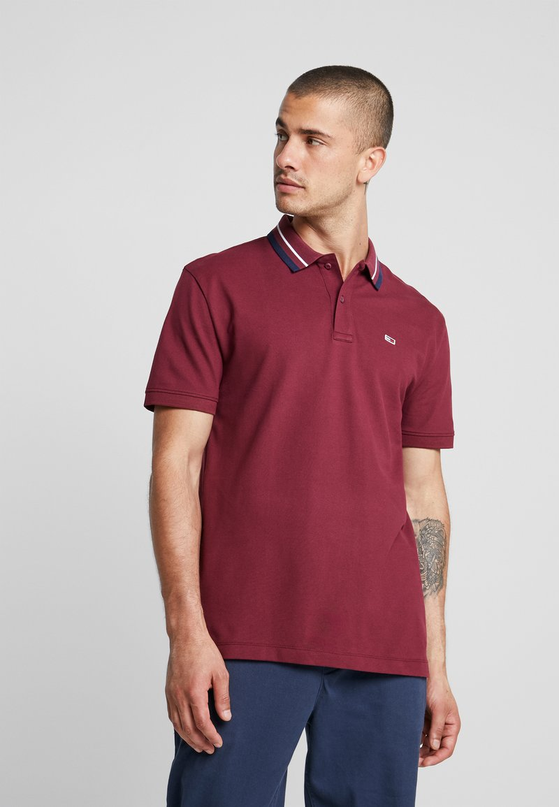 Tommy Jeans - CLASSICS TIPPED - Polo - burgundy