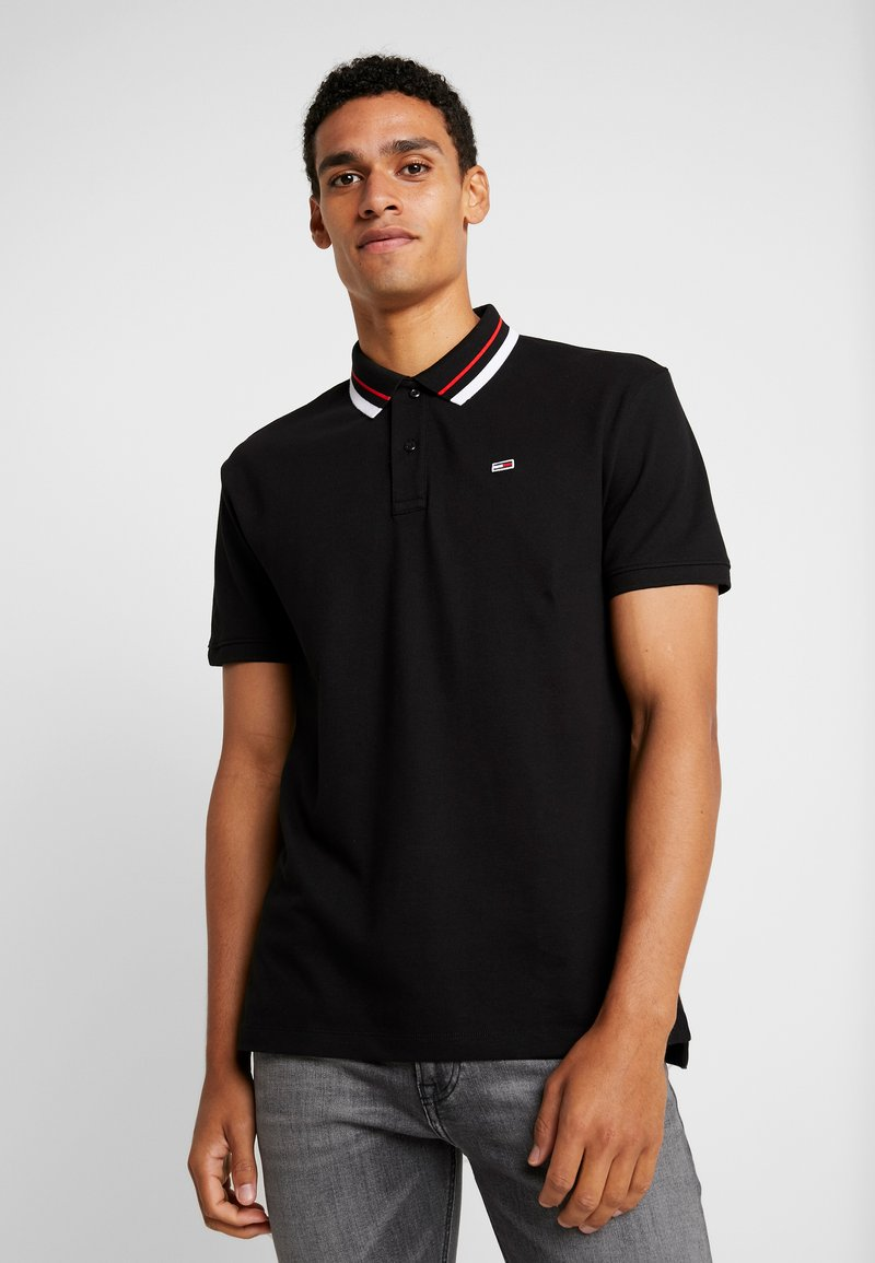 Tommy Jeans - CLASSICS TIPPED - Polo shirt - black