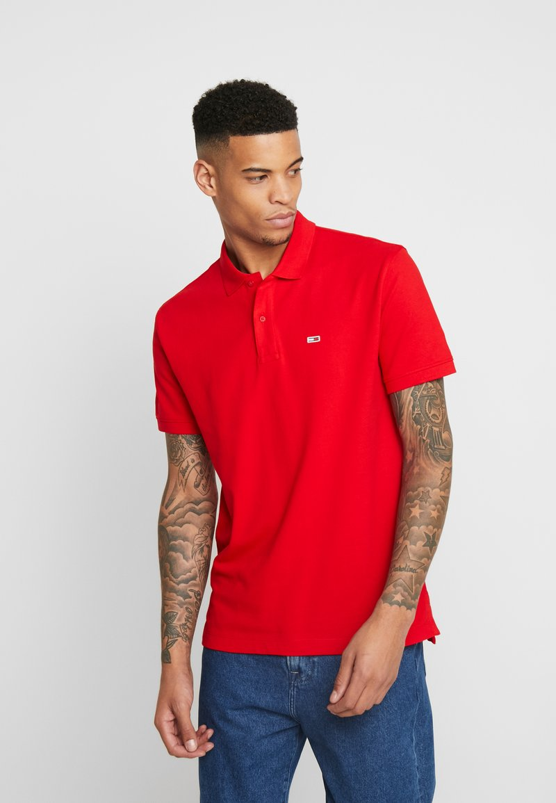Tommy Jeans - CLASSICS SOLID STRETCH  - Polo - racing red