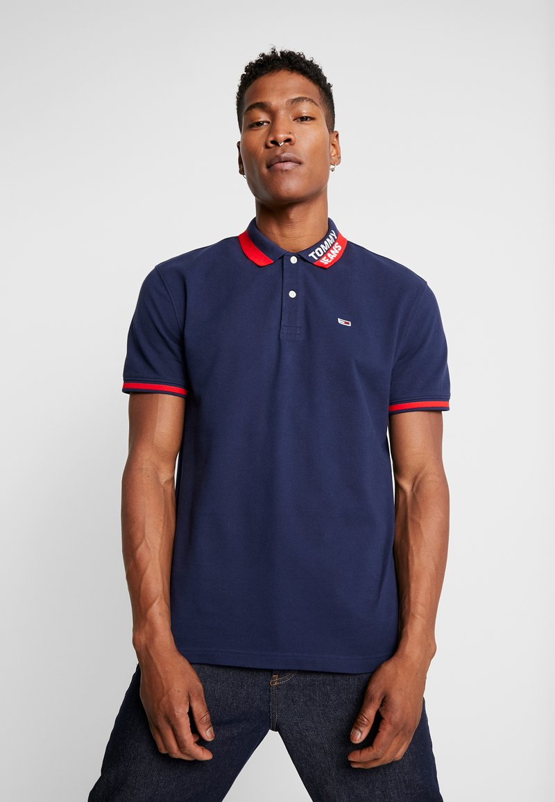 Tommy Jeans - BRANDED COLLAR - Polo shirt - black iris