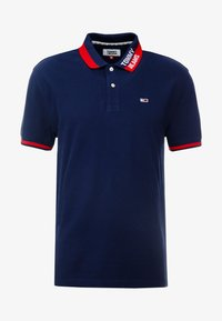 Tommy Jeans - BRANDED COLLAR - Polo shirt - black iris - 4