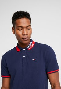 Tommy Jeans - BRANDED COLLAR - Polo shirt - black iris - 3