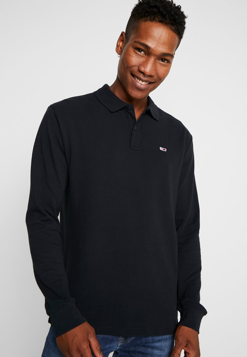 Tommy Jeans - CLASSICS LONGSLEEVE - Polo - black