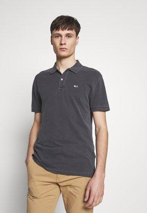 GARMENT DYE - Polo shirt - black