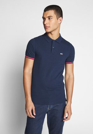 DETAIL SLIM FIT - Polo - twilight navy