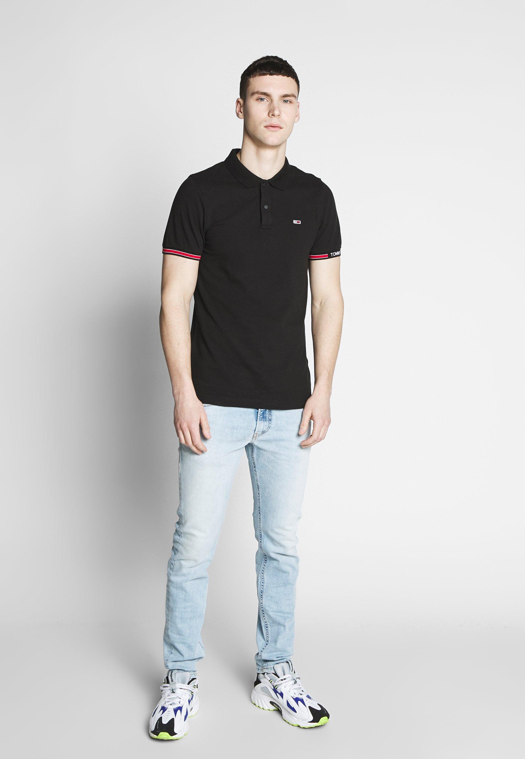 Tommy Jeans Detail Slim Fit - Piké Black