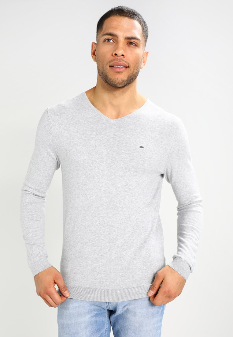 Tommy Jeans - ORIGINAL - Stickad tröja - light grey heather