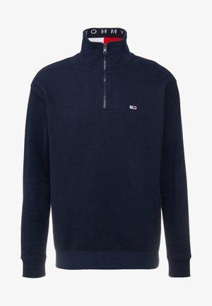 SOLID ZIP MOCK NECK - Sweatshirt - blue