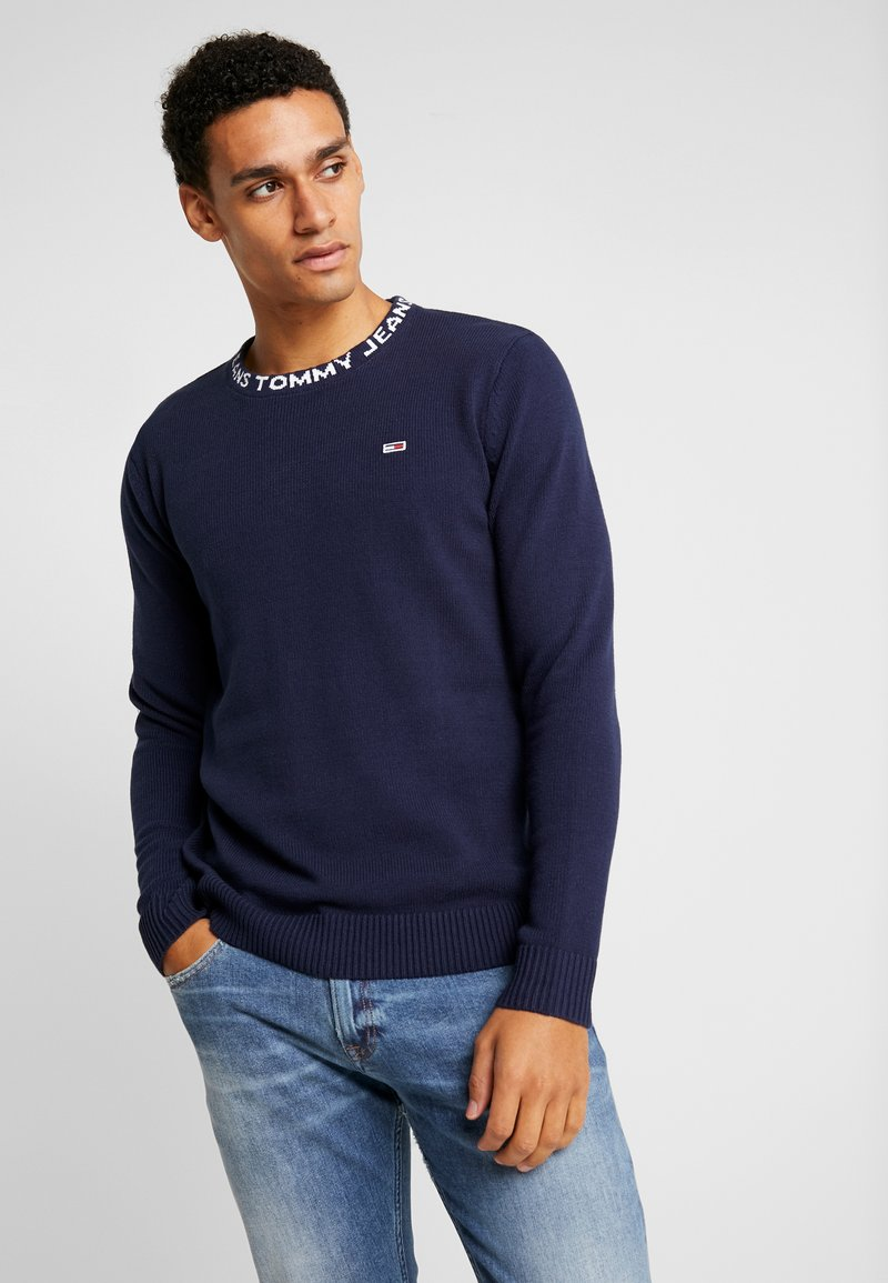 Tommy Jeans - SOLID - Strickpullover - black iris