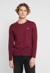 Tommy Jeans - CLASSICS - Stickad tröja - burgundy - 0