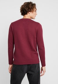 Tommy Jeans - CLASSICS - Stickad tröja - burgundy - 2