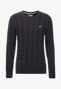 Tommy Jeans - ESSENTIAL CABLE - Neule - grey twisted - 4