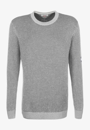 TJM TEXTURED BADGE SWEATER - Trui - grey heather