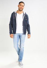 Tommy Jeans - ORIGINAL ZIPTHRU - Bluza rozpinana - black iris - 1