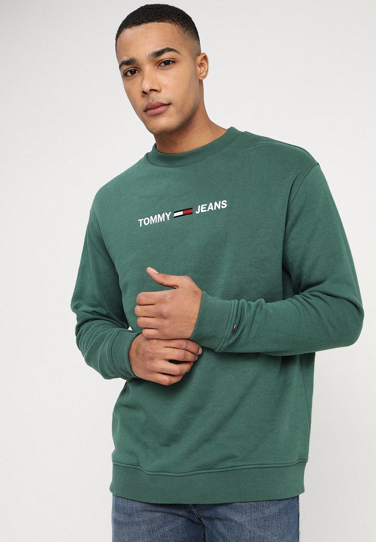 Tommy Jeans - SMALL LOGO CREW - Sweater - green