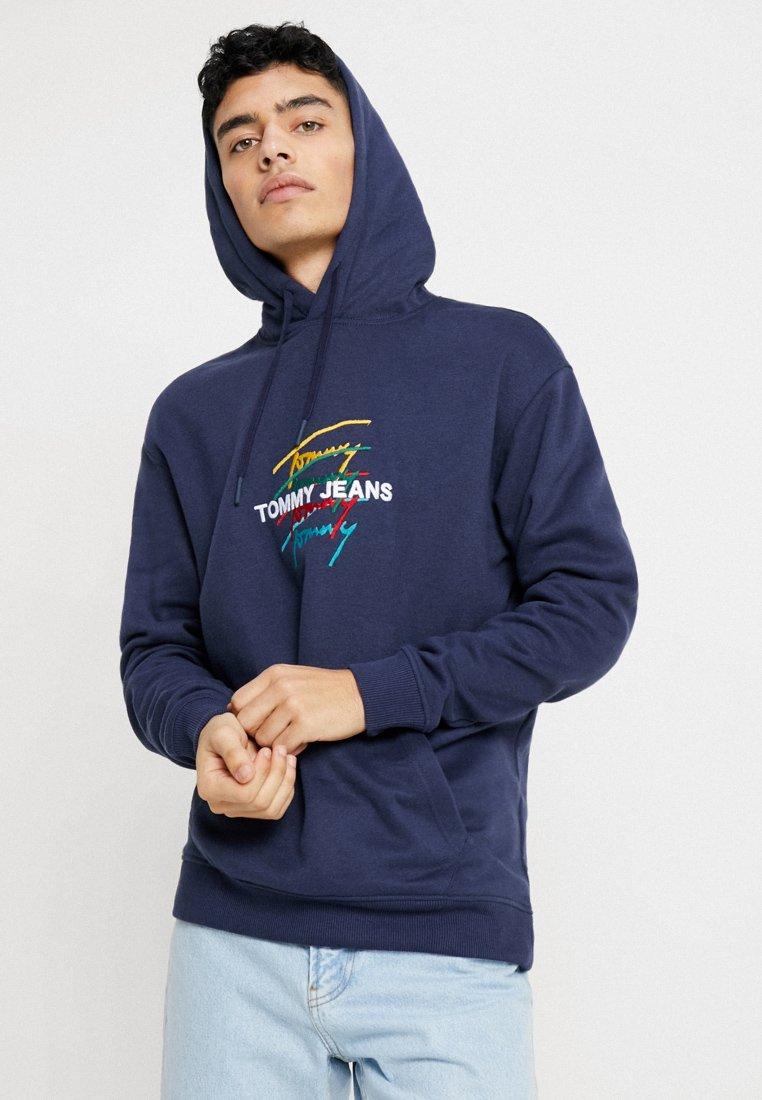 Tommy Jeans - SIGNATURE LOGO HOODIE - Kapuzenpullover - blue