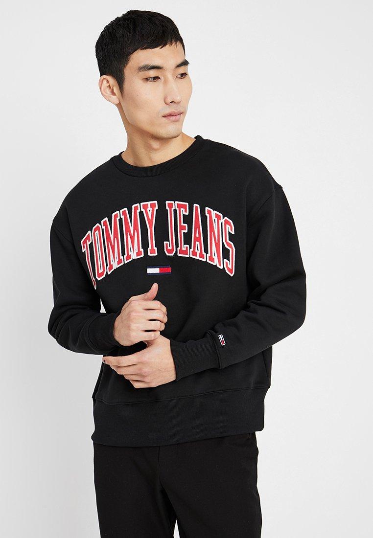 Tommy Jeans - CLEAN COLLEGIATE CREW - Sweatshirt - black
