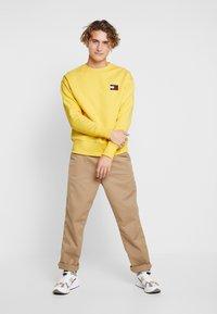 Tommy Jeans - BADGE CREW - Collegepaita - aspen gold - 1