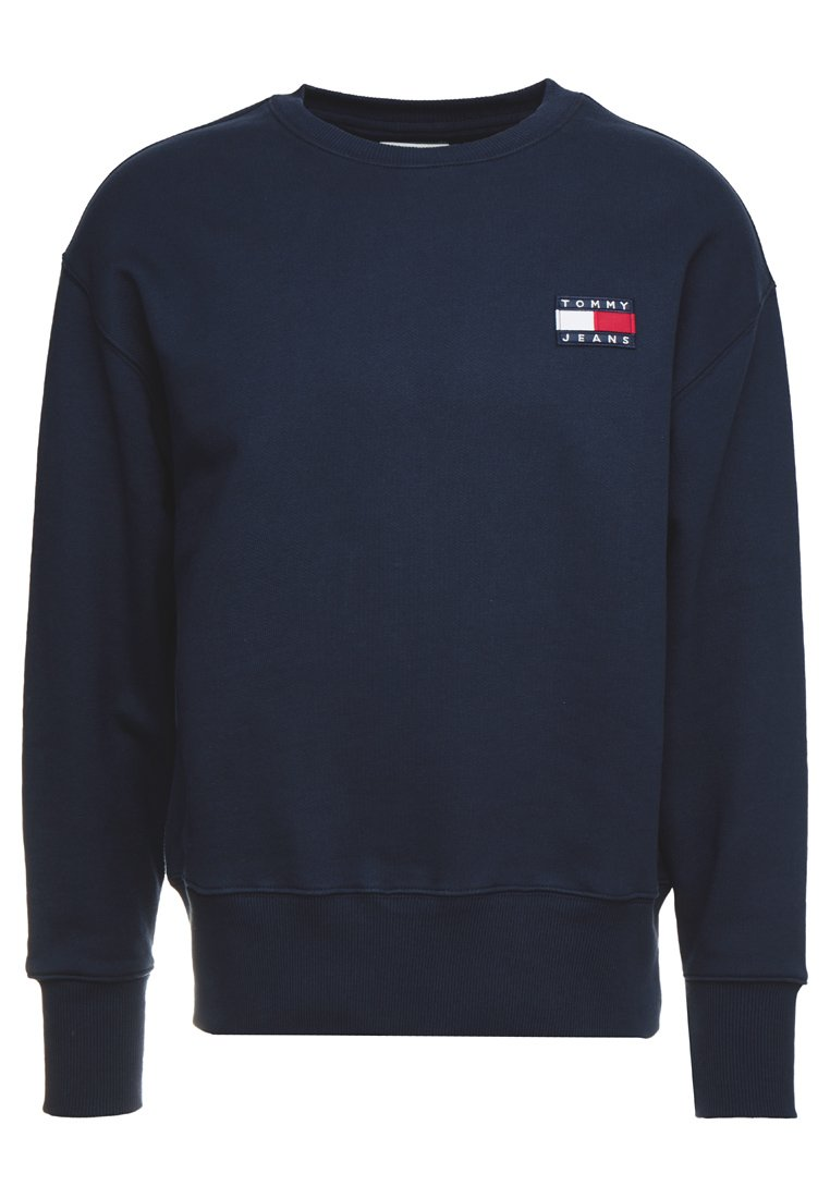 Tommy Jeans BADGE CREW - Felpa - blue