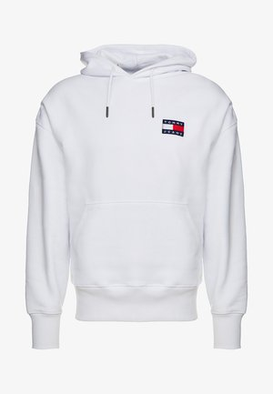 BADGE HOODIE - Bluza z kapturem - white