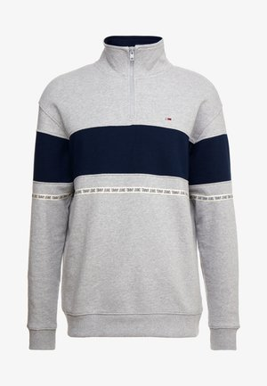 TAPE ZIP MOCK NECK - Sweatshirt - grey