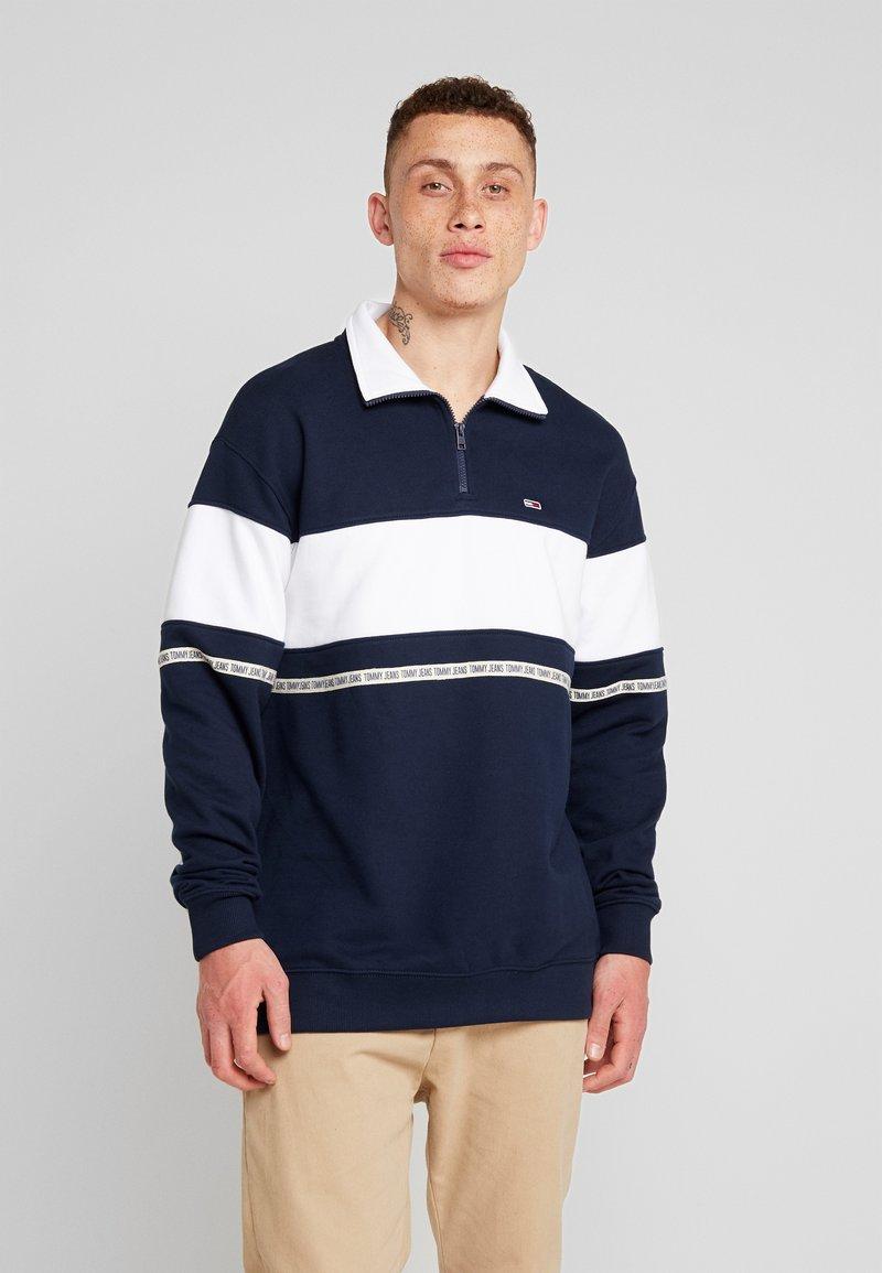 Tommy Jeans - TAPE ZIP MOCK NECK - Sweatshirt - blue