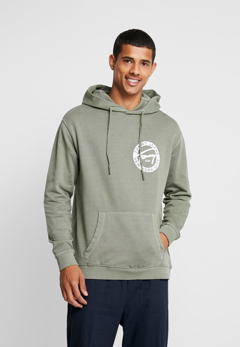 Tommy Jeans - GRAPHIC WASHED  - Mikina skapucí - green