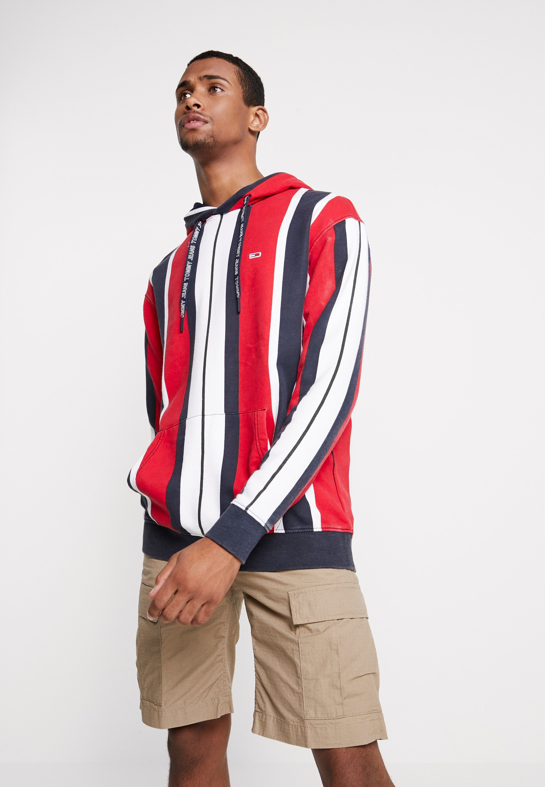 Stripe Tommy Vertical Jeans Capuche À Red HoodieSweat 5j34ALR