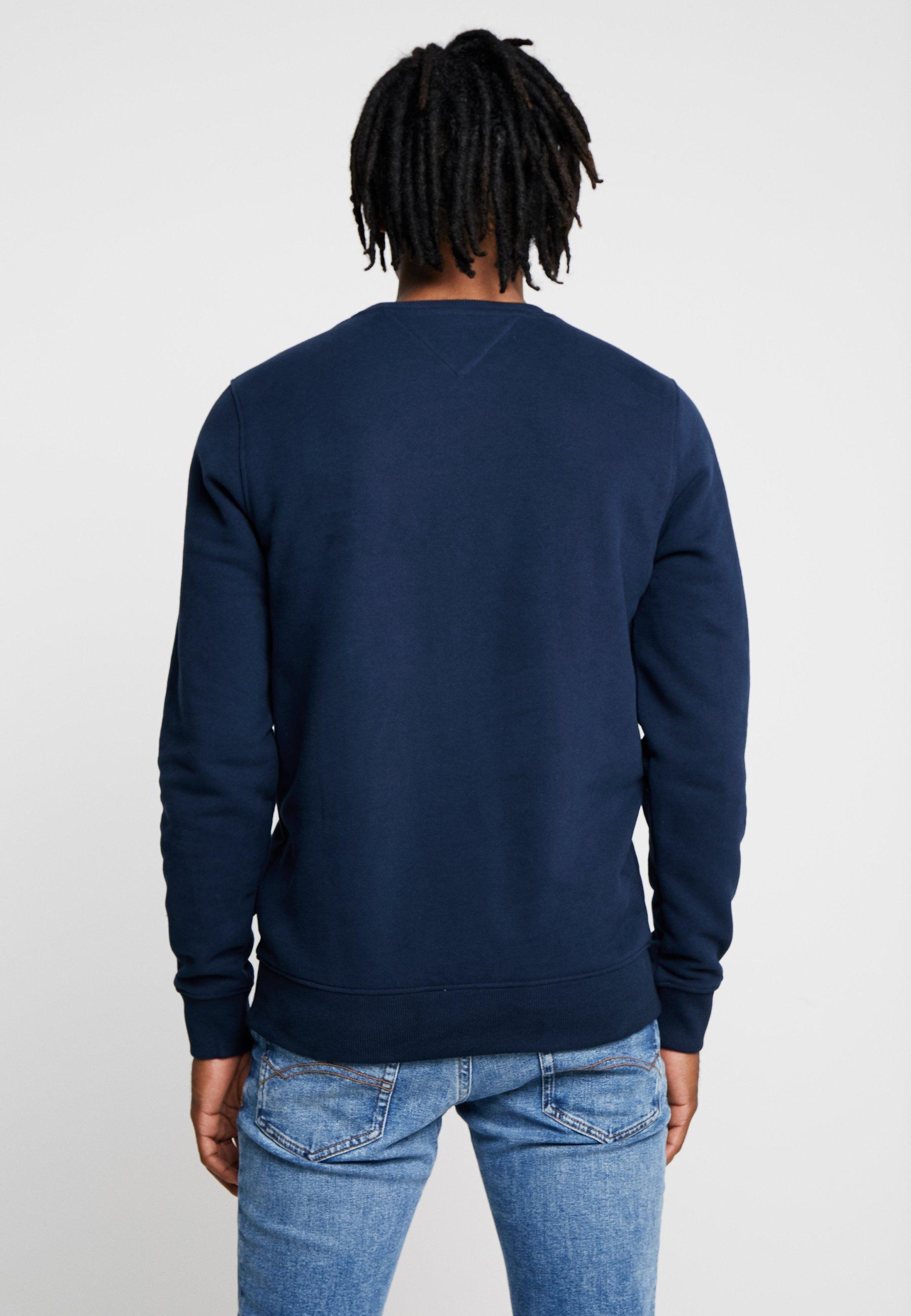 Split Blue CrewSweatshirt Block Logo Tommy Jeans hxtrdsQC