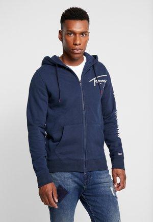SCRIPT ZIP THROUGH - Zip-up hoodie - black iris