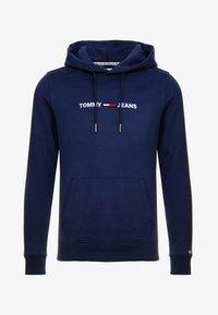 Tommy Jeans - STRAIGHT LOGO HOODIE - Sweat à capuche - black iris - 4