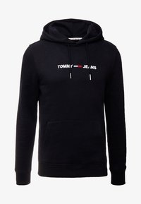 Tommy Jeans - STRAIGHT LOGO HOODIE - Huppari - tommy black - 5
