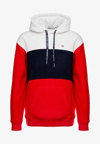 Tommy Jeans - BOLD STRIPE HOODIE - Sweat à capuche - racing red/black iris - 3