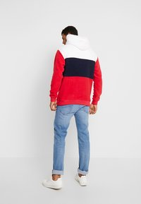 Tommy Jeans - BOLD STRIPE HOODIE - Hoodie - racing red/black iris - 2