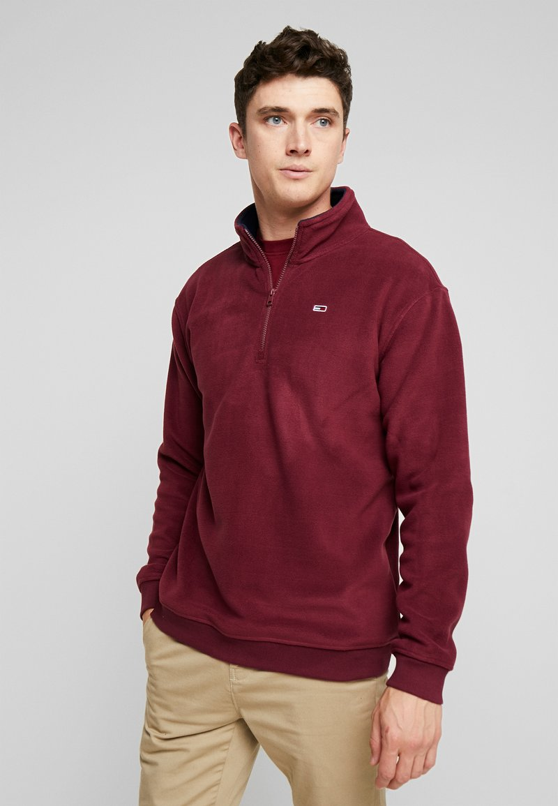 Tommy Jeans - POLAR MOCK NECK - Fleece jumper - burgundy