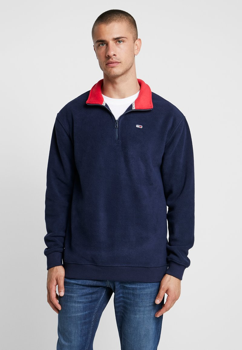 Tommy Jeans - POLAR MOCK NECK - Fleece jumper - dark blue