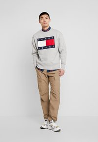 Tommy Jeans - FLAG CREW - Sweater - light grey - 1
