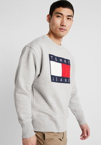 Tommy Jeans - FLAG CREW - Sweater - light grey - 4