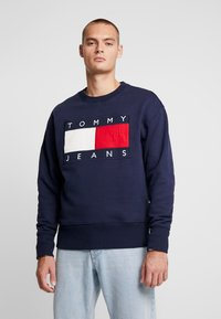 Tommy Jeans - FLAG CREW - Sweatshirt - black iris - 0