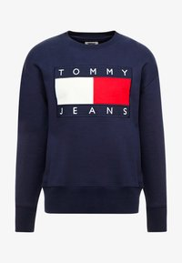 Tommy Jeans - FLAG CREW - Sweatshirt - black iris - 4
