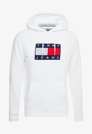 FLAG HOODIE - Kapuzenpullover - white