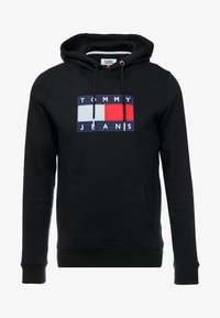 Tommy Jeans - FLAG HOODIE - Hoodie - black - 5